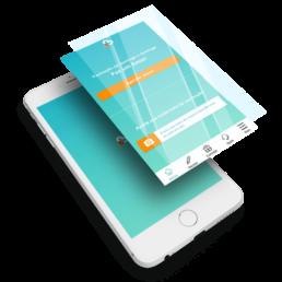 Tela celular com app - AOC - Beep