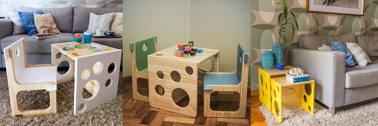 Cubos do método Montessori